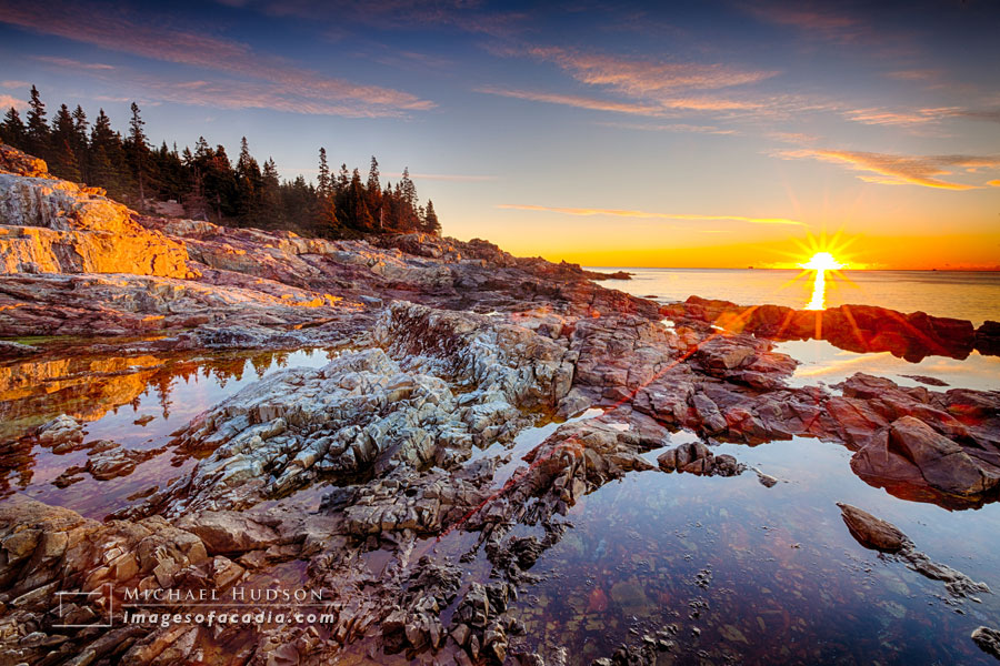 Sunrise at Hunters Head, Acadia National Park, Maine, USA