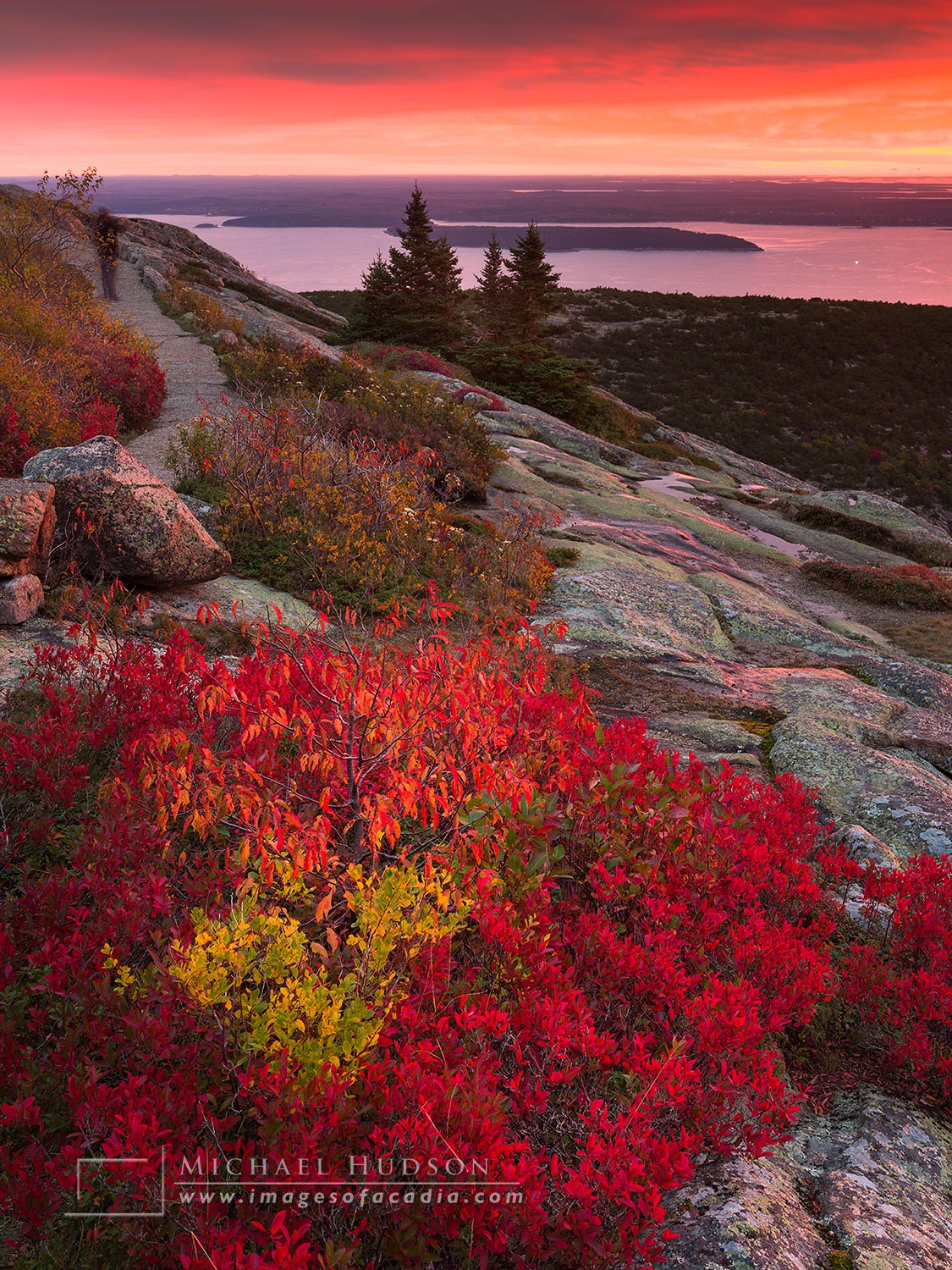 When I posted this image of a sunrise on Cadillac Mountain on my other Instagram page,    @mikehudsonseye   , it quickly became my most popular image on the internet- ever.