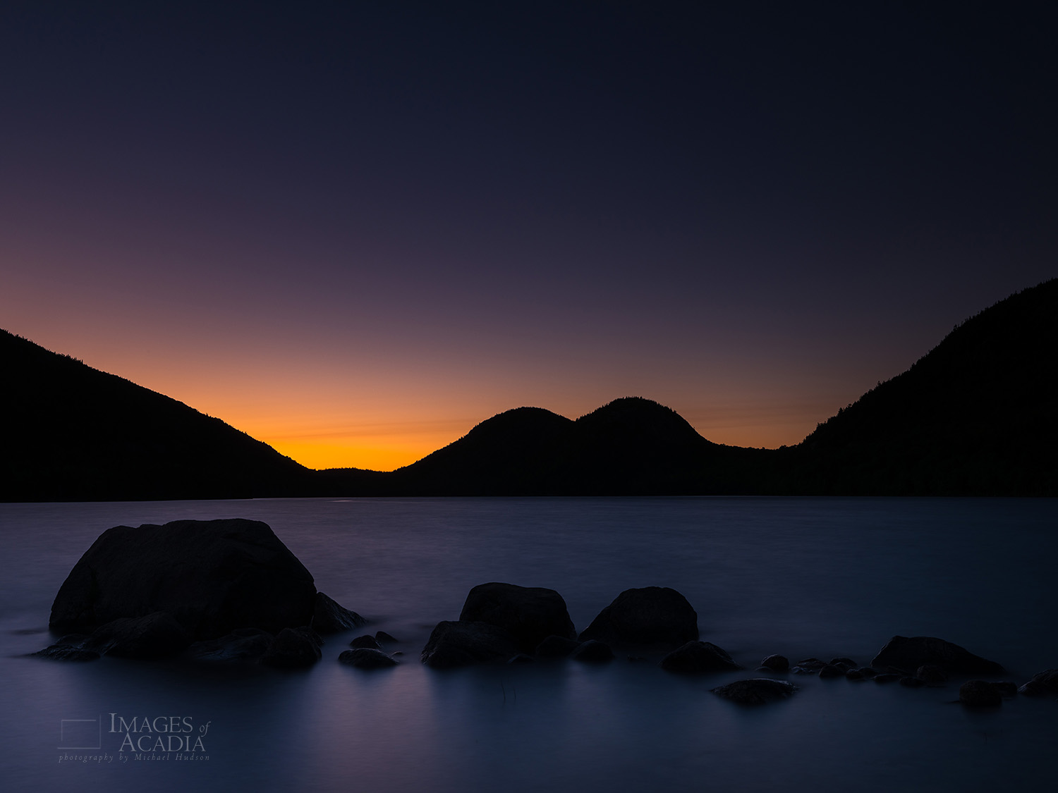Sundown at Jordan Pond
