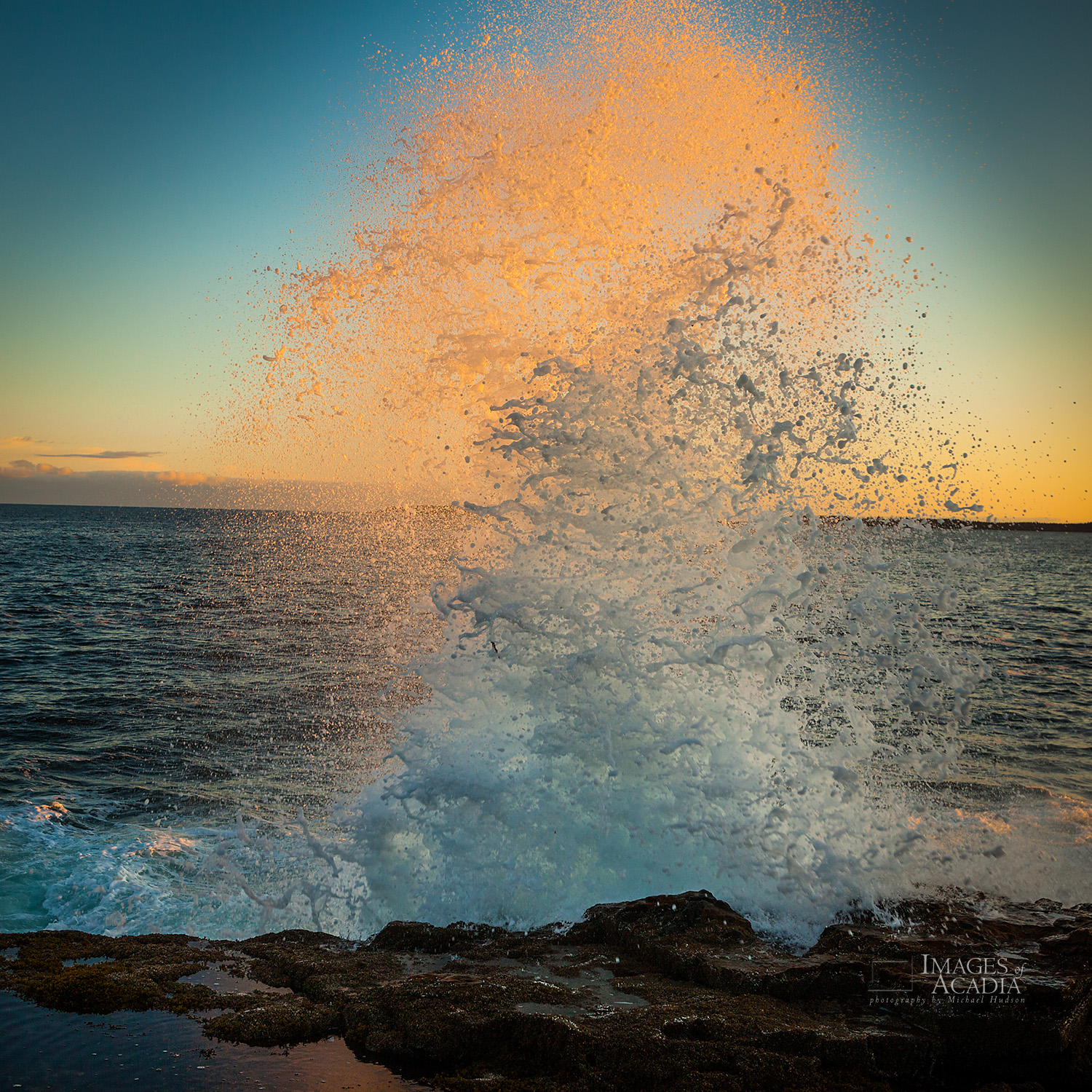 Waves Pounding the Coast at Sunrise, Hunters Head