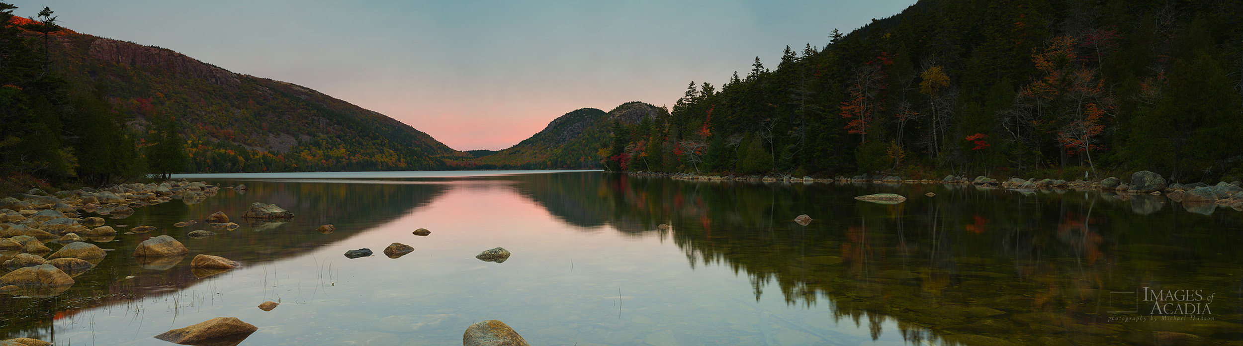 Early morning at Jordan Pond