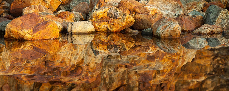 Rock pools at sunrise, Hunters Head, Acadia National Park, Maine