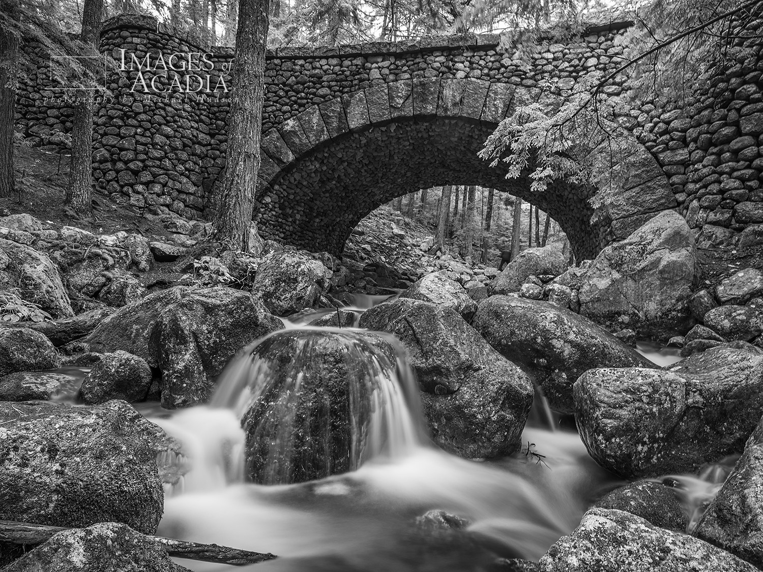 Cobblestone Bridge and Jordan Stream, Acadia National Park, Main