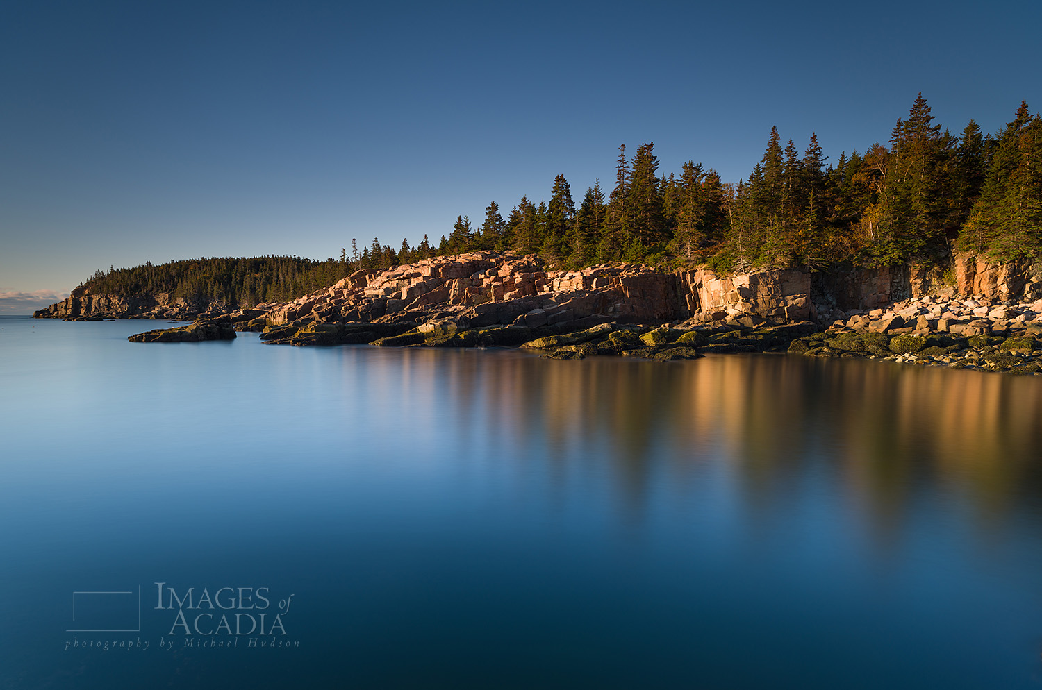 Sunrise along the east coast of Acadia National Park, Maine, USA
