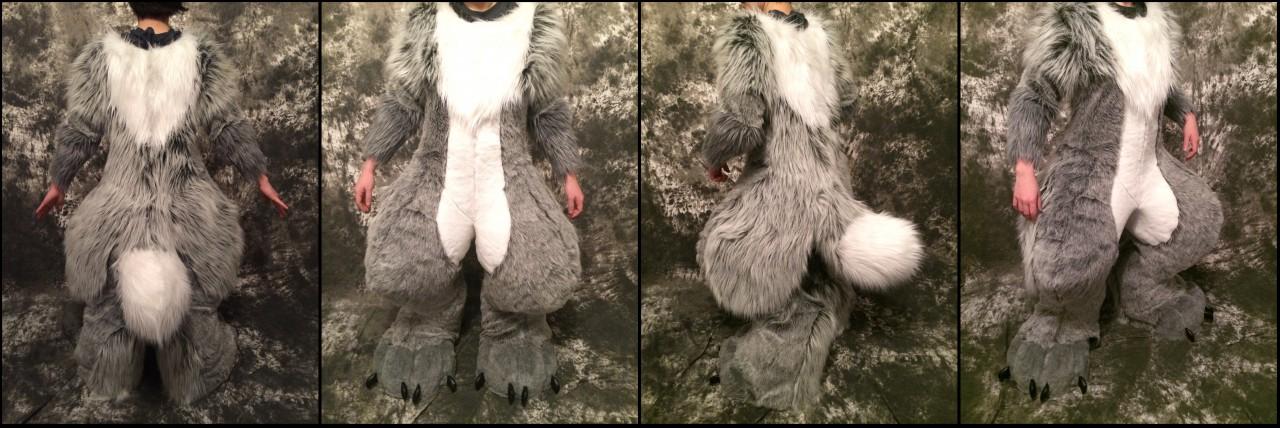Knight the fox body/feet/tail