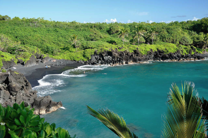 """""""Image found in google""""    Gorgeous black sand beach. You don't wanna miss it."""
