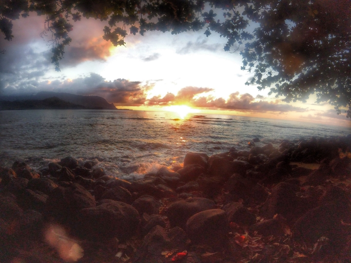 Another beautiful beach. Sunsets are gorgeous at Hawaii.