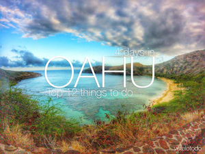 Why Oahu? The best beaches are there