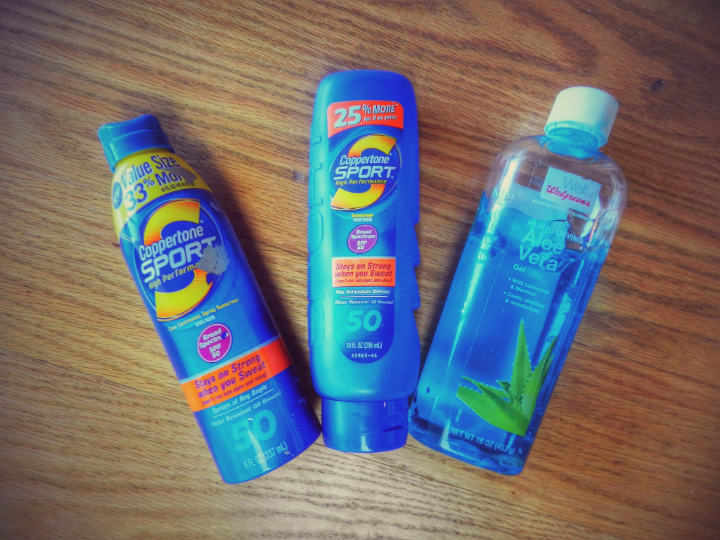 Take tons of sun screen and aloe vera/aftersun screen. Apply every hours or so so you do not get sunburn.