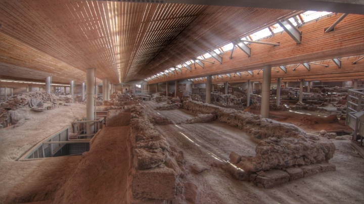 This is an archaeological site. Similar to Pompeii, this town was destroyed by an earthquake and a volcanic eruption. Step into this 4th millennium BC village and discover their remaining secrets.