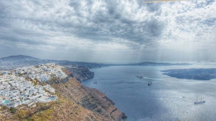 Other attraction in Santorini is taking a sailing tour. Boats will make stop around the island that are only accessible by boat.