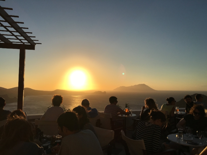 Plaka in Milos is quite similar to Mikonos or Oia. Just smaller and less crowded. We found this cafe named Utopia and enjoyed the sunset from there.