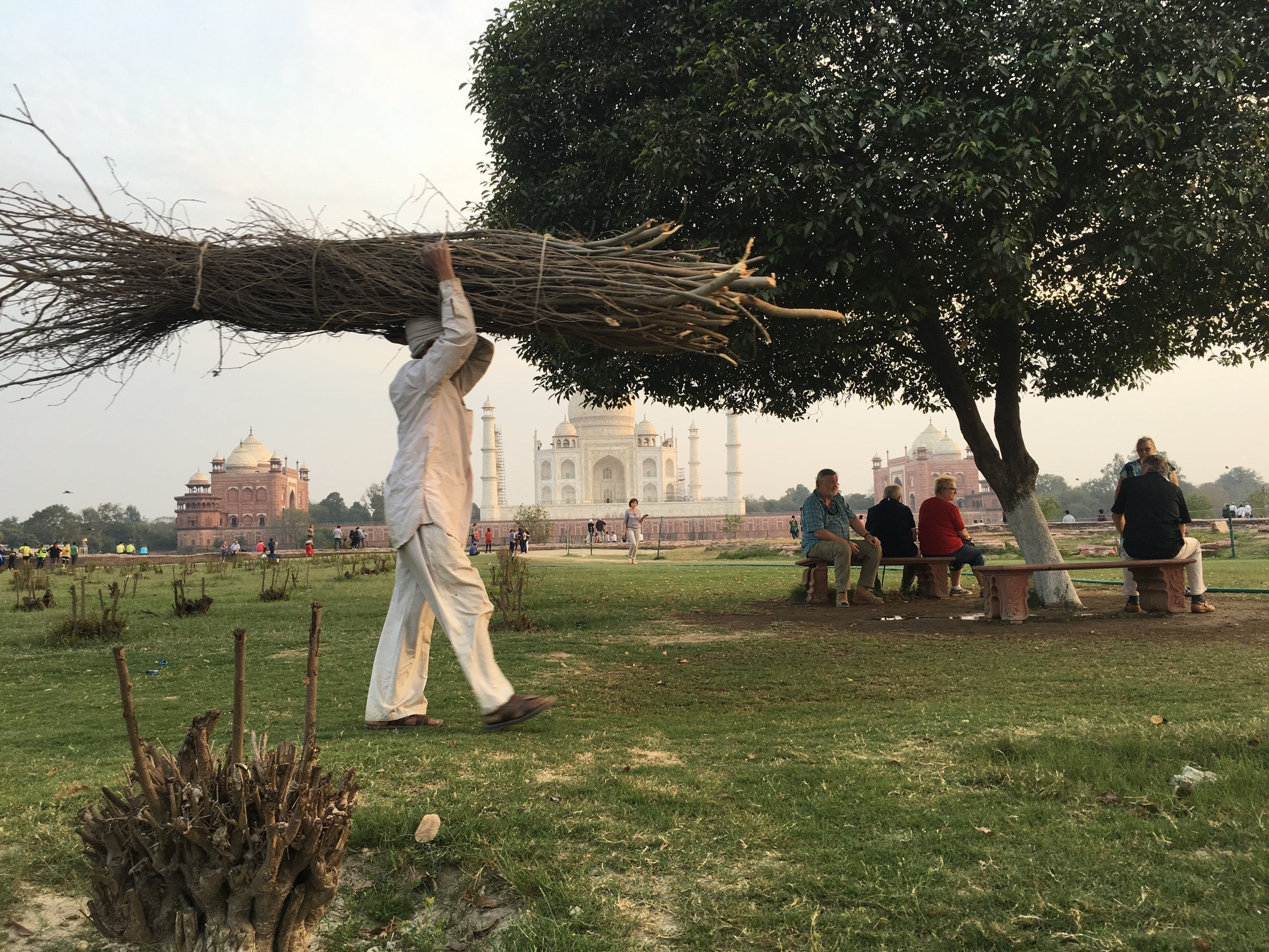 """This is a """"garden"""" right behind the Taj Mahal. Go at sunset time and observe how this beautiful monument changes colors as sun goes down. There is a symbolic fee for the entrance."""
