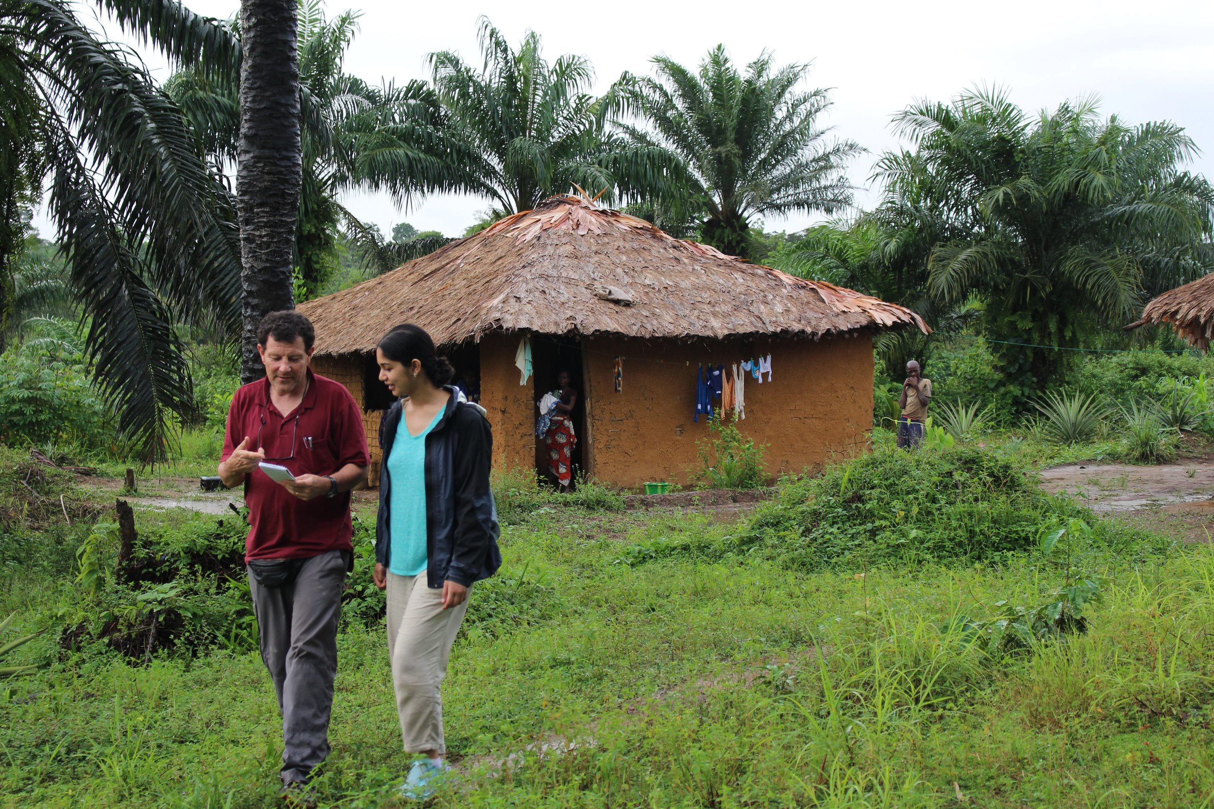 Reporting with Nicholas Kristof in Liberia. (Credit Geoffrey Kristof)