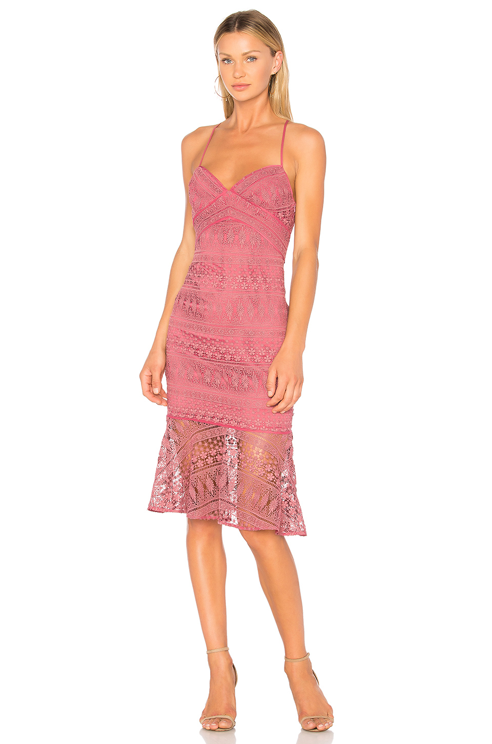 Pretty in Pink - Lace details make it feminine and elegant at the same time. With the right accessories this dress can easily be dressed up.