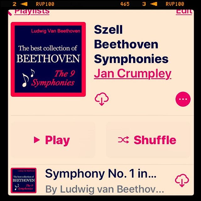 How long have we had this version of iTunes on iOS? I just realized I didn't know how to turn shuffle off, and once I looked it up, I had the wrong order of tracks in my UP NEXT list. I really hate to admit this. Symphonies  should have the movements in order. I know why I don't know this - Dover is so small I never hear more than two tunes in a row in my car. And otherwise I am listening to books or podcasts. #techfail #oldandintheway