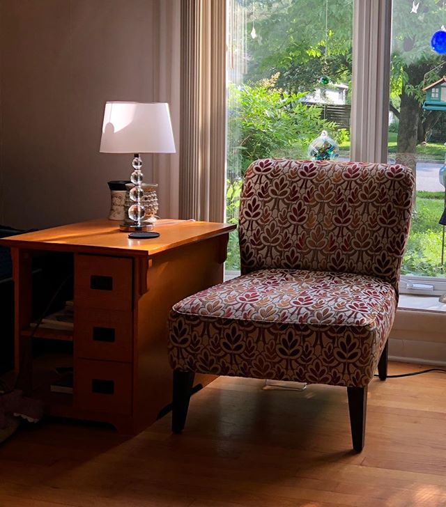 Moving Sale: Motivated to sell all my furniture! This chair, table & lamp can go as a set, asking $100 for all 3. You move it. There's more furniture, too!