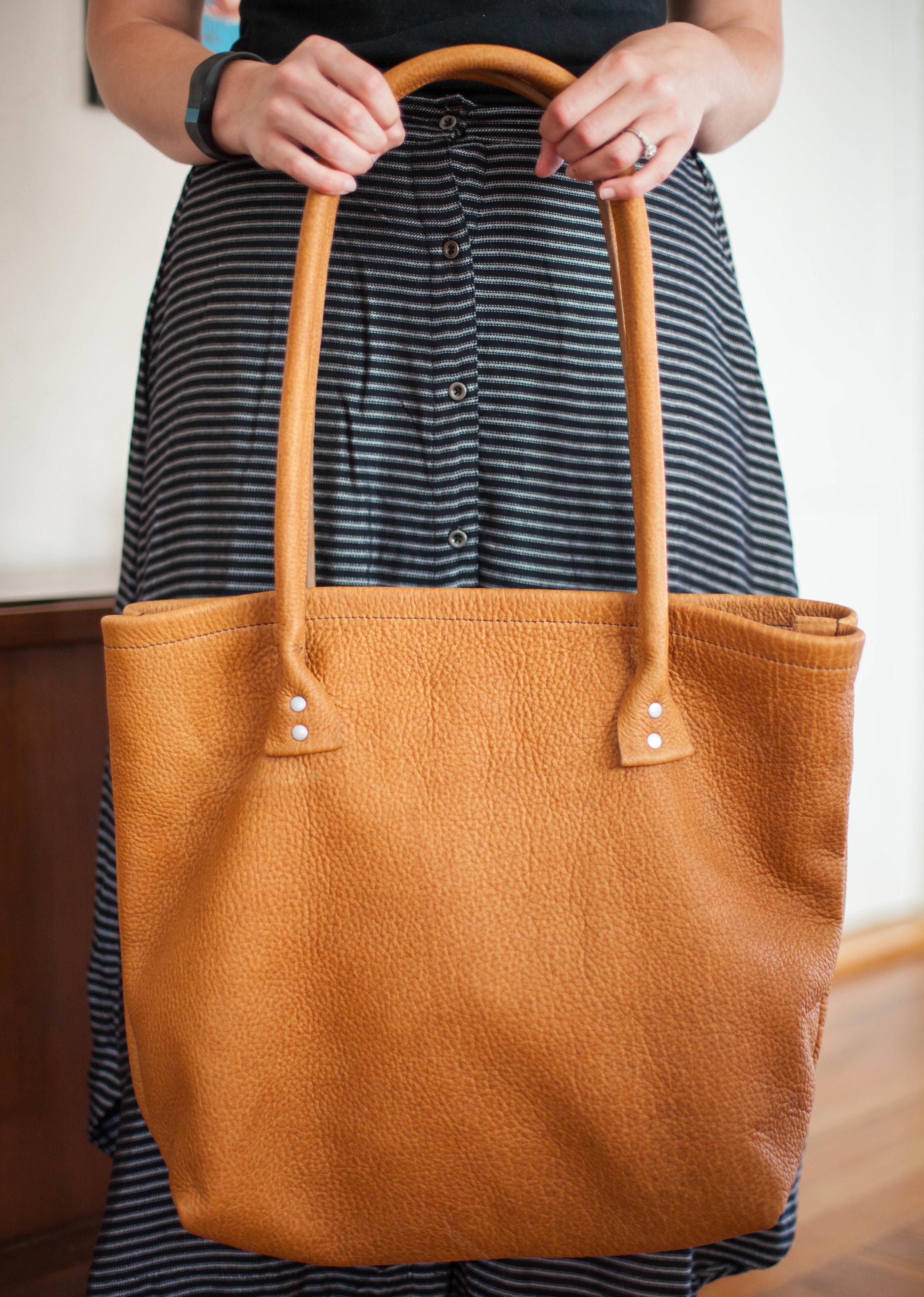 Making Corded Bag Handles Gold Bark