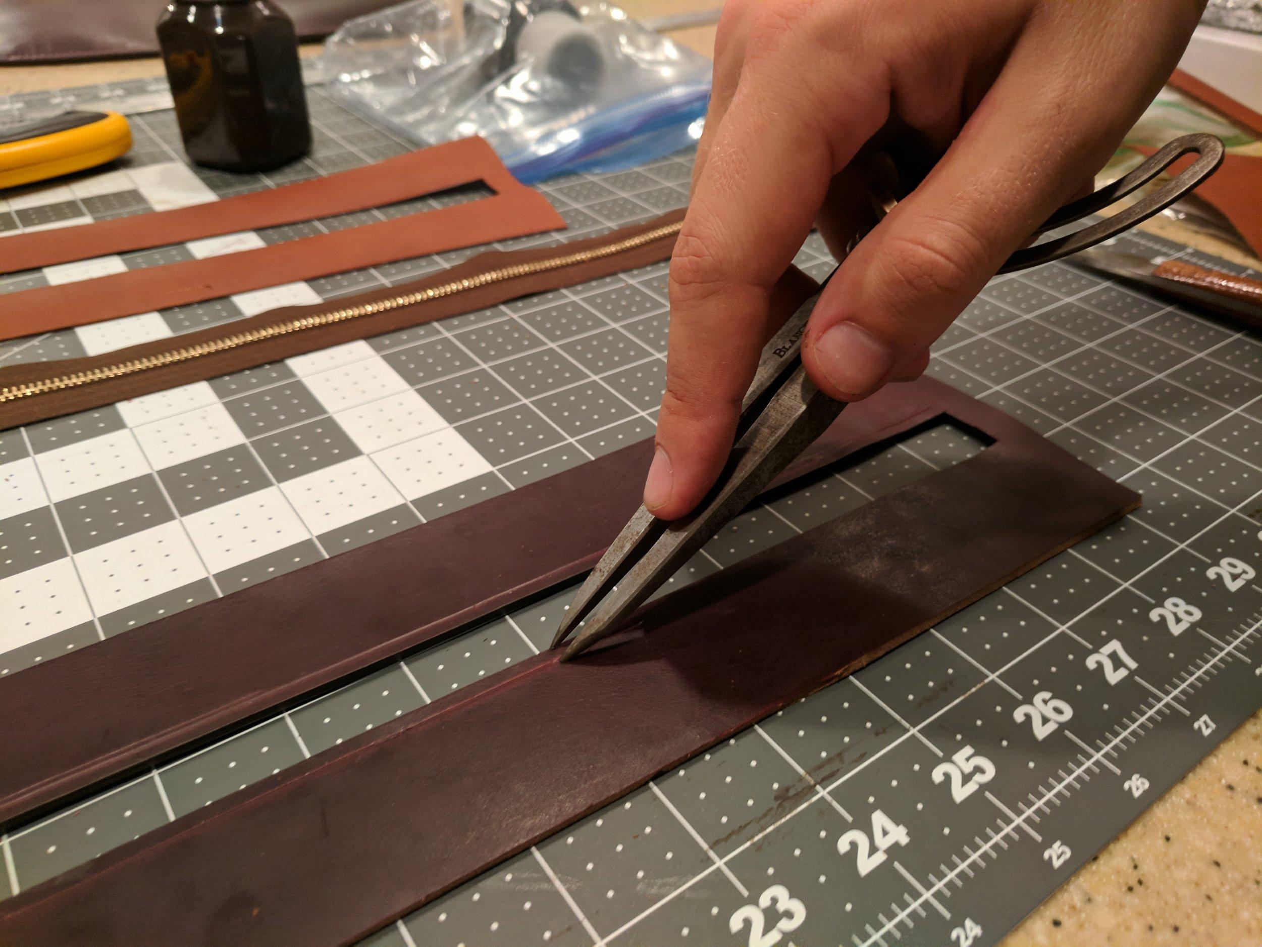 Creating stitching lines