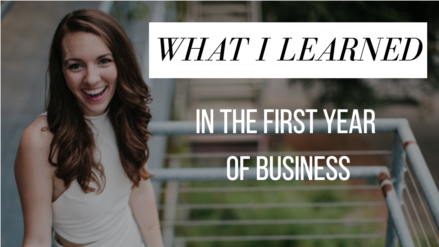 What I learned in the first year of business