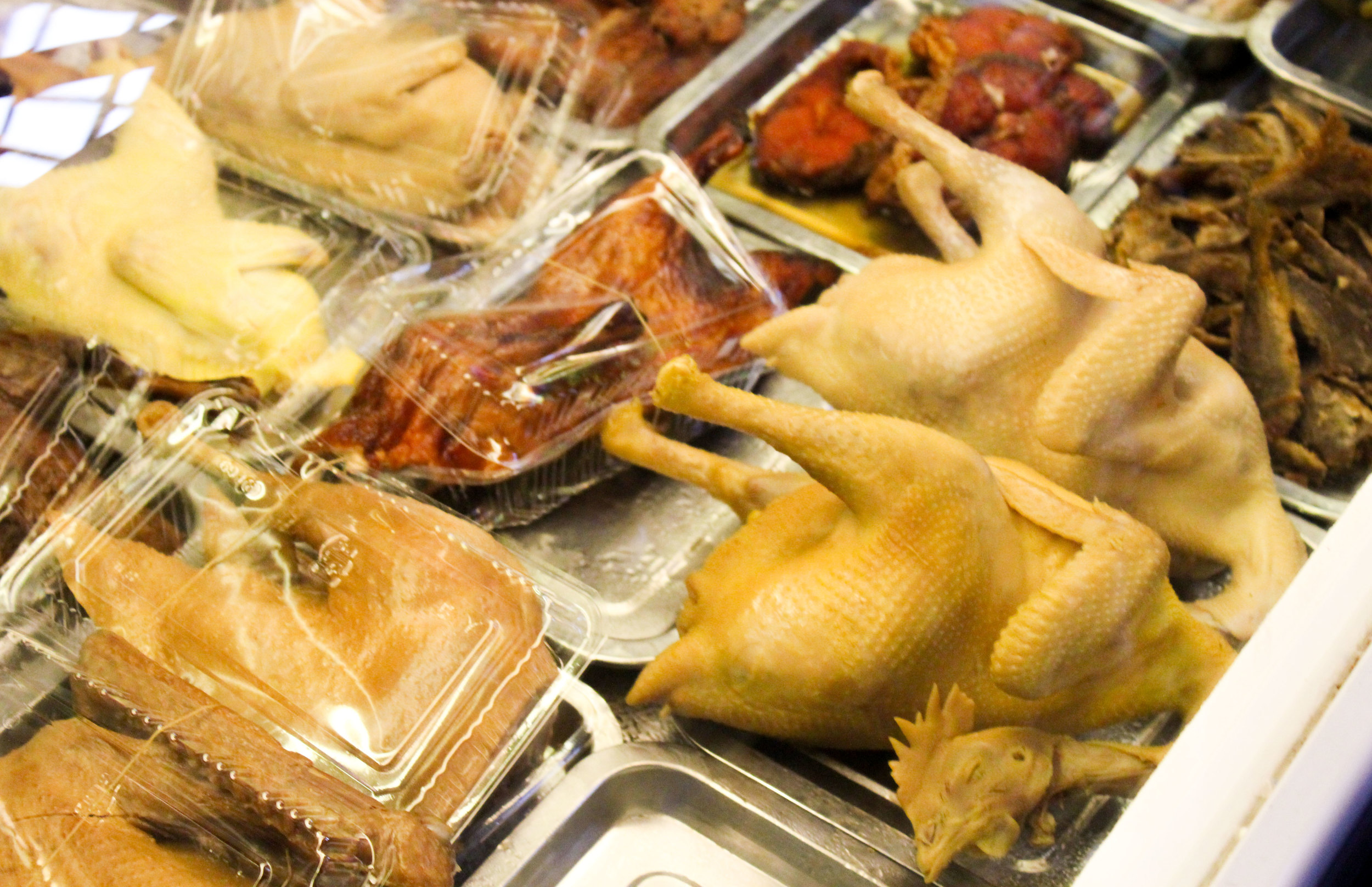 The Chinese believe removing bones and organs from poultry also removes the flavor, I believe this is hilarious