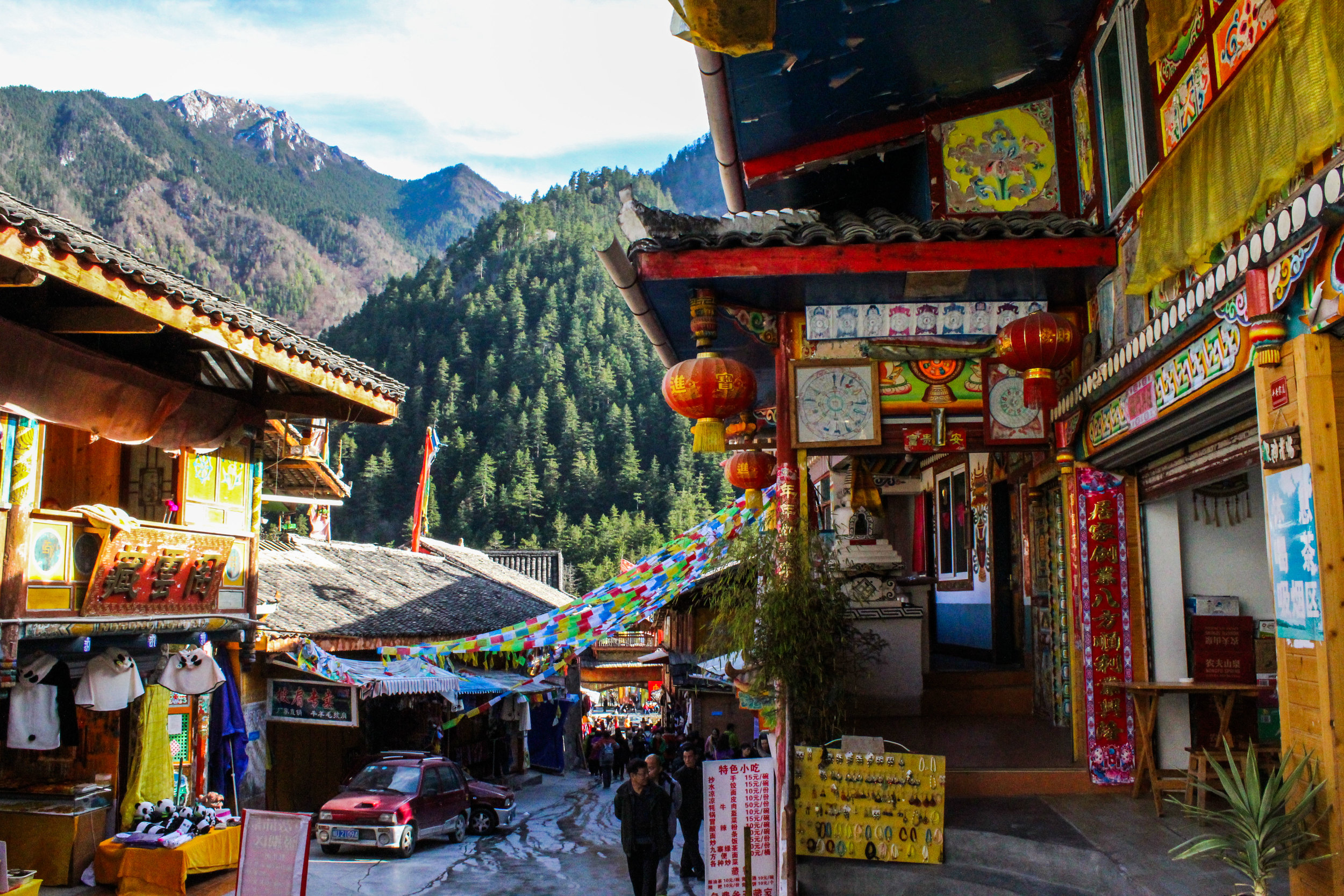 Its in the Sichuan province and is like if Tibet adopted Yellowstone