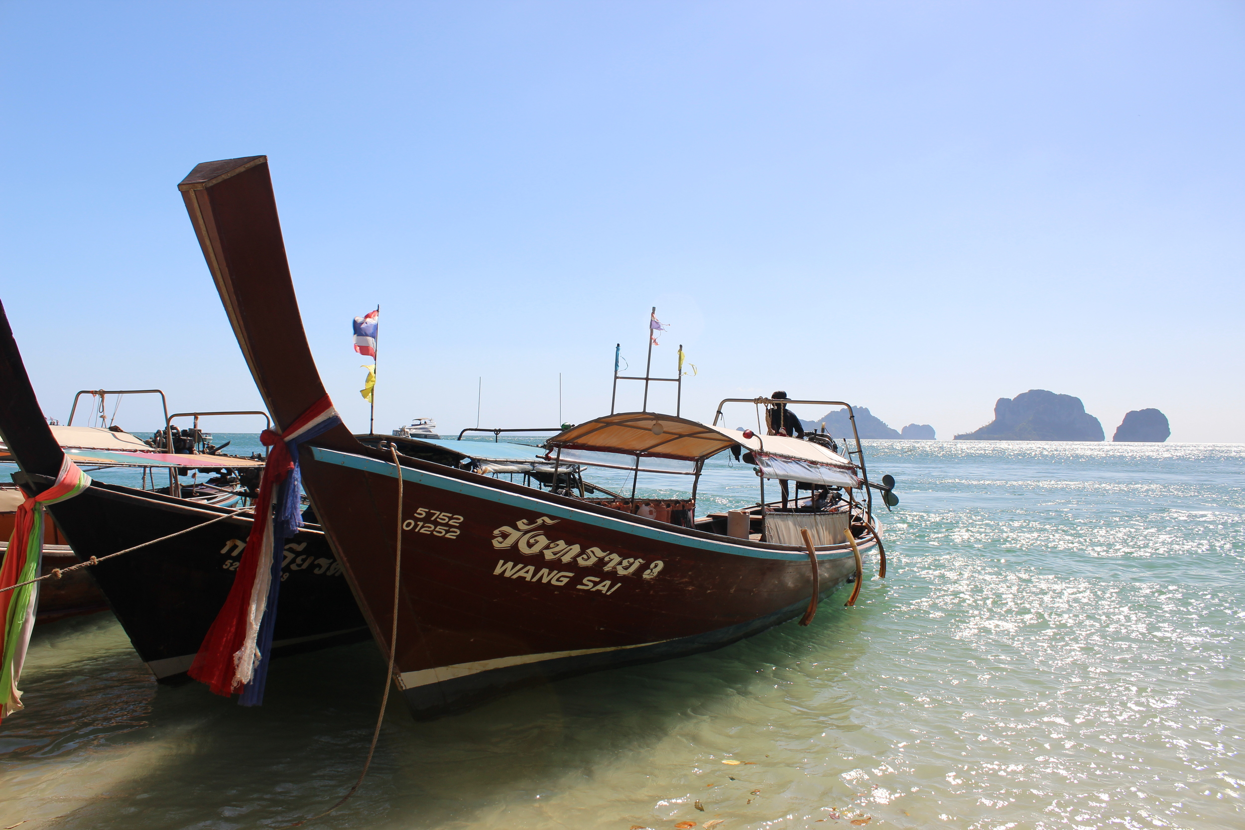 Thai boats are great to photograph, because they are the only place people aren't