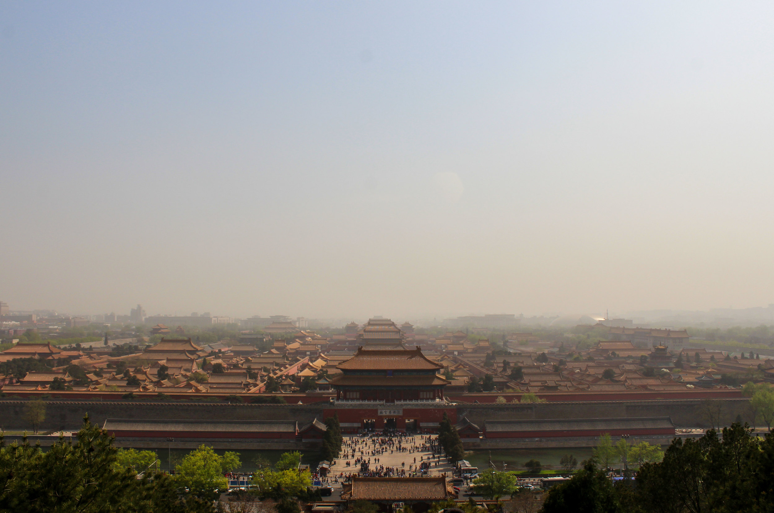 The Forbidden City gains some additional mystique thanks to the permanent veil of smog