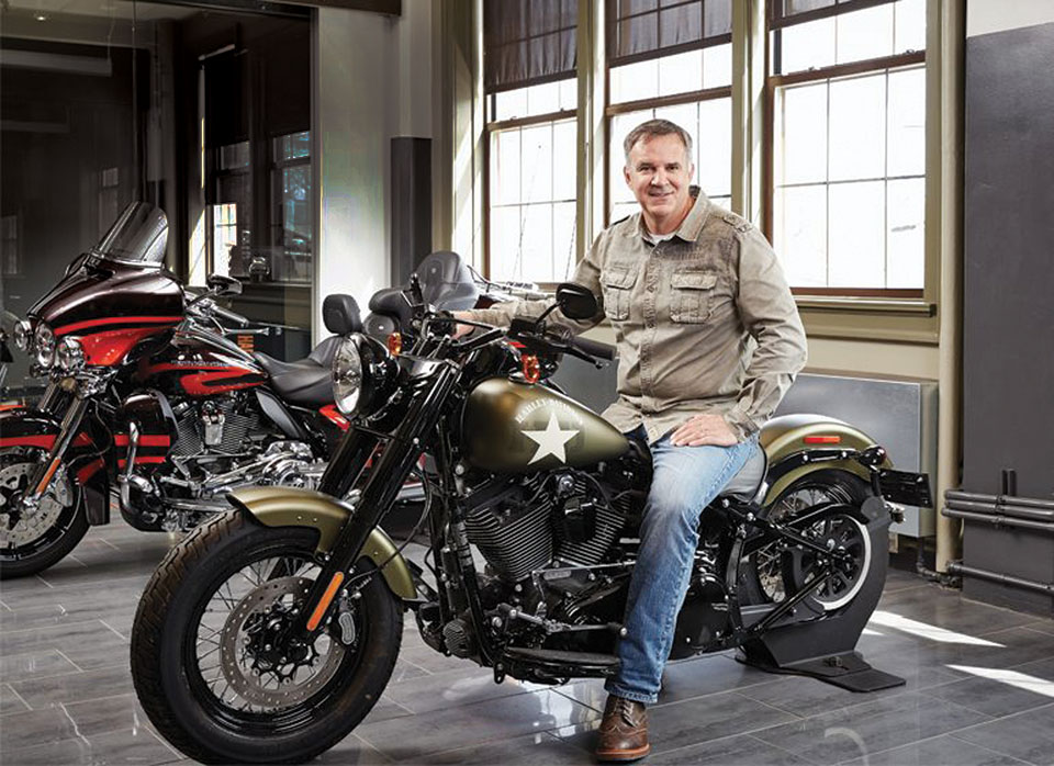 """Harley-Davidson's Matt Levatich at the """"Scale Up Milwaukee"""" conference."""