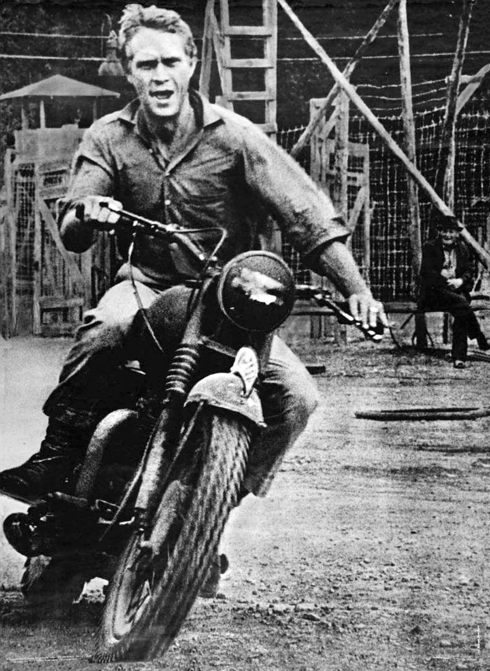 Steve McQueen in  The Great Escape.