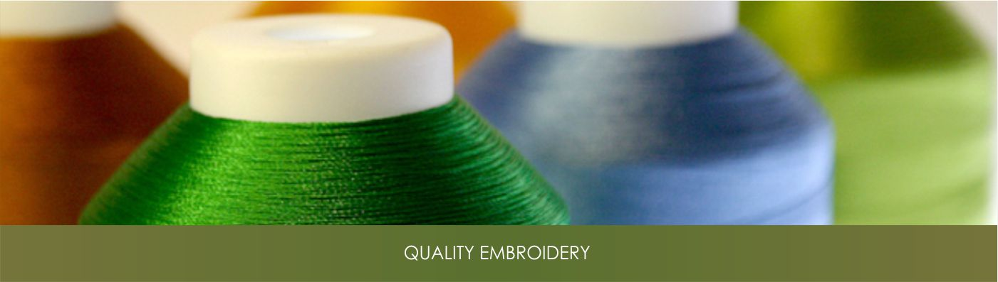Quality embroidery using top of the line equipment and technology.