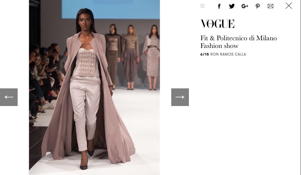 Milano Show in Vogue Italia