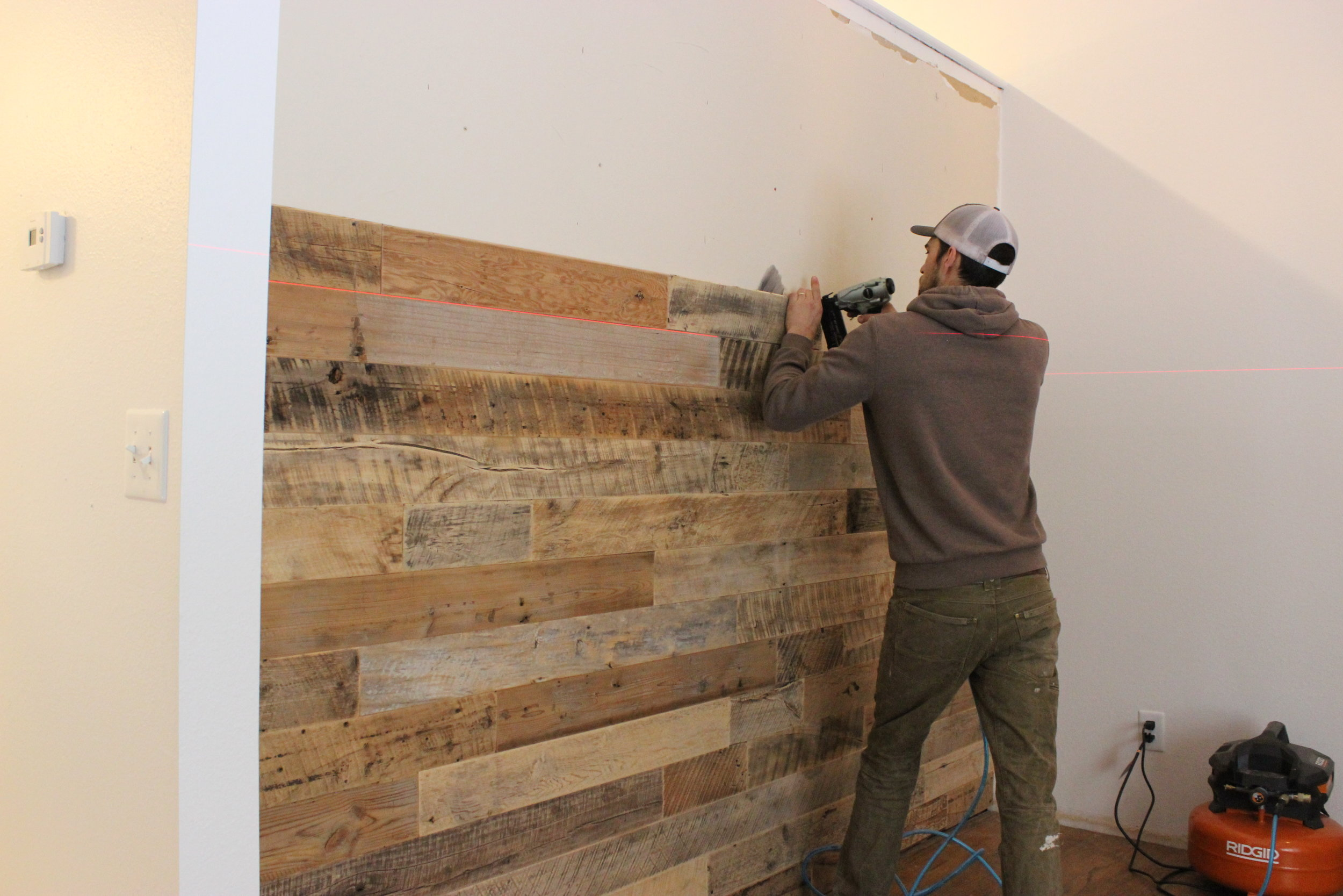 91 Reclaimed Wood Accent Wall Paneling Brad Nail .JPG