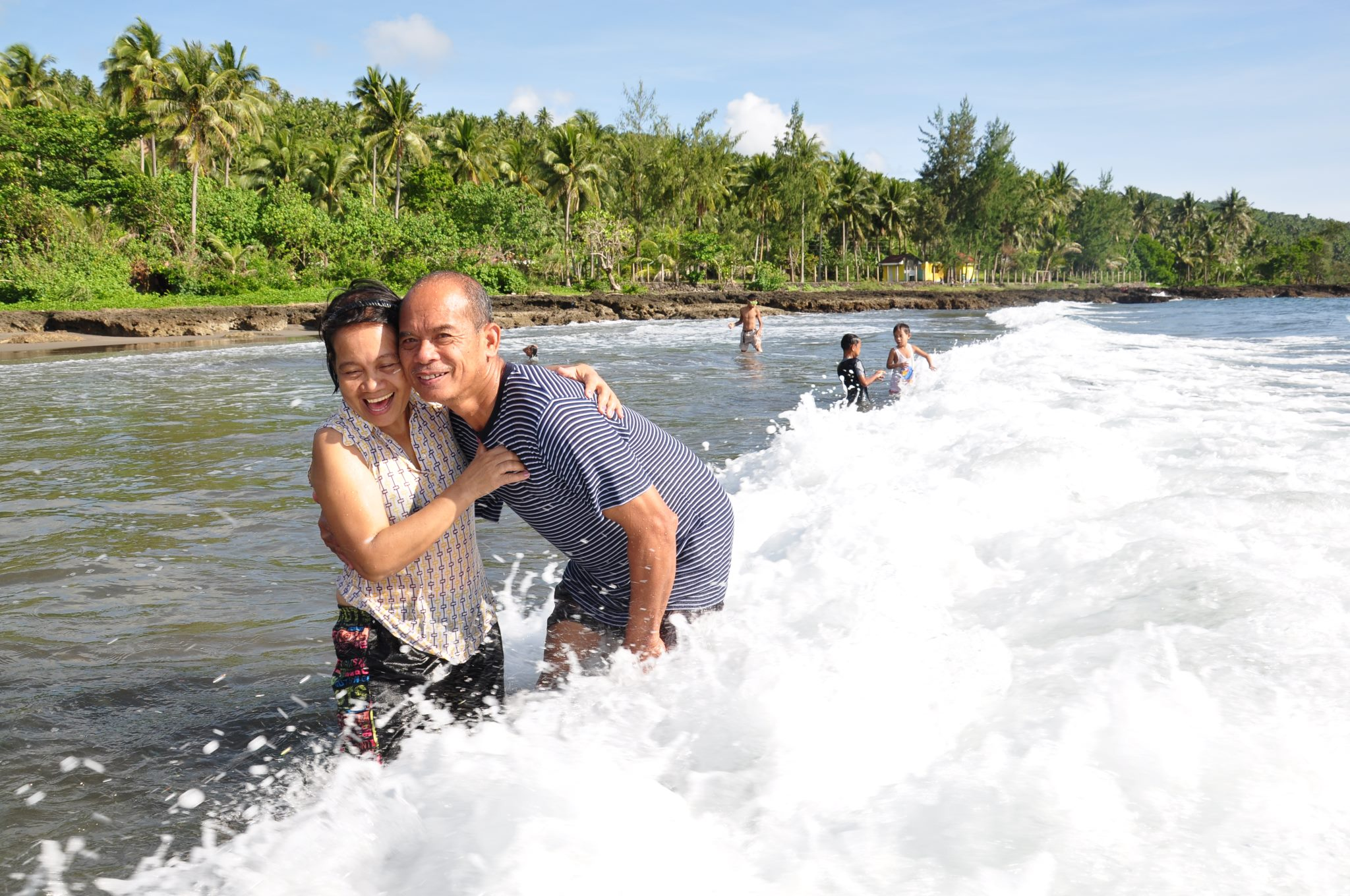 My eldest sister Ate May and her husband taking a break south of Manila. Photo taken in 2013.