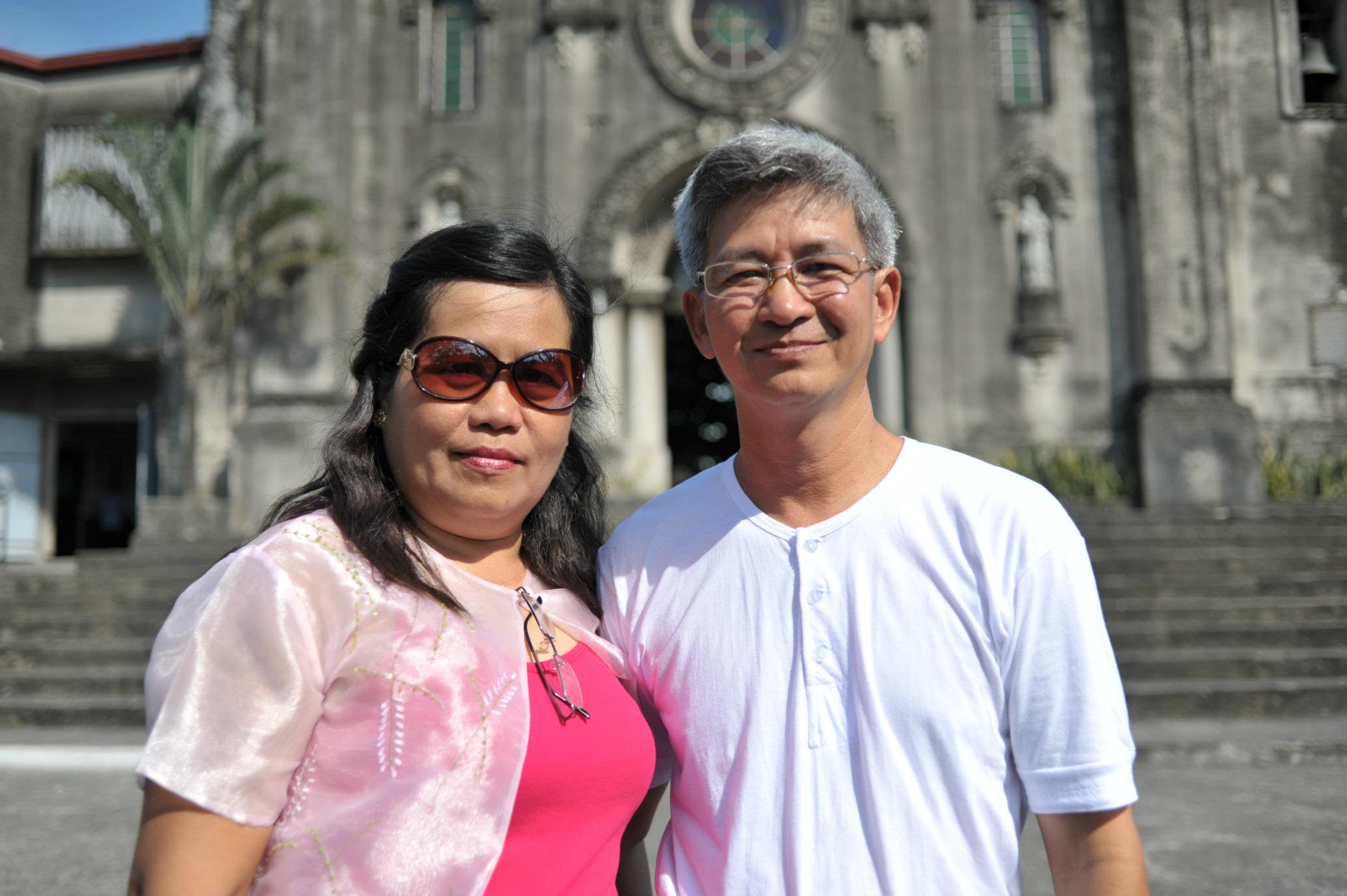 My third eldest sister, Ate Grace with her husband. Photo taken in 2013.