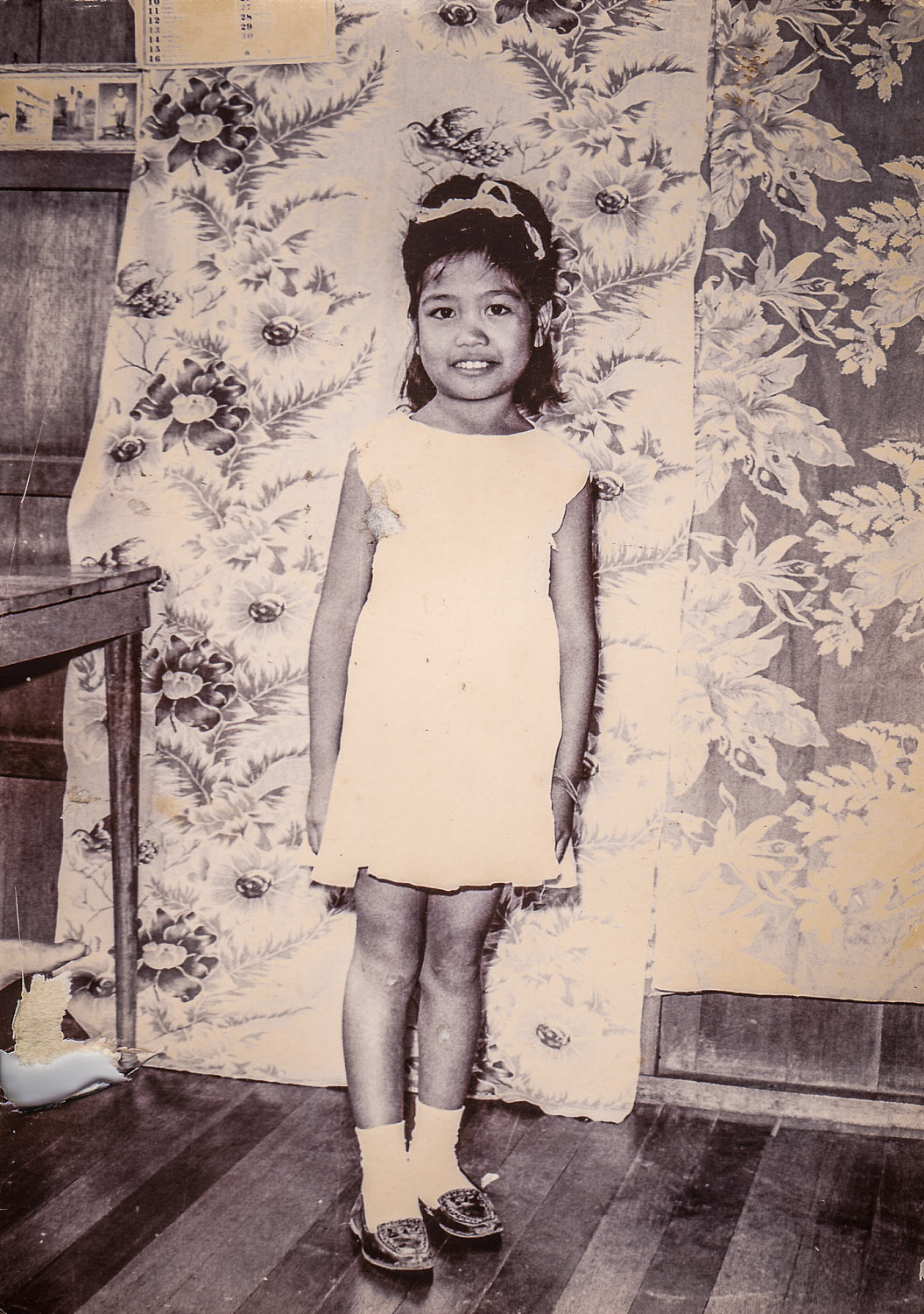 My sister Ate Del when she was young as potency 8 or 9yrs old. Photo date unknown.