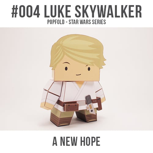 Papercraft imprimible y recortable de Luke Skywalker de Star Wars. Manualidades a Raudales.