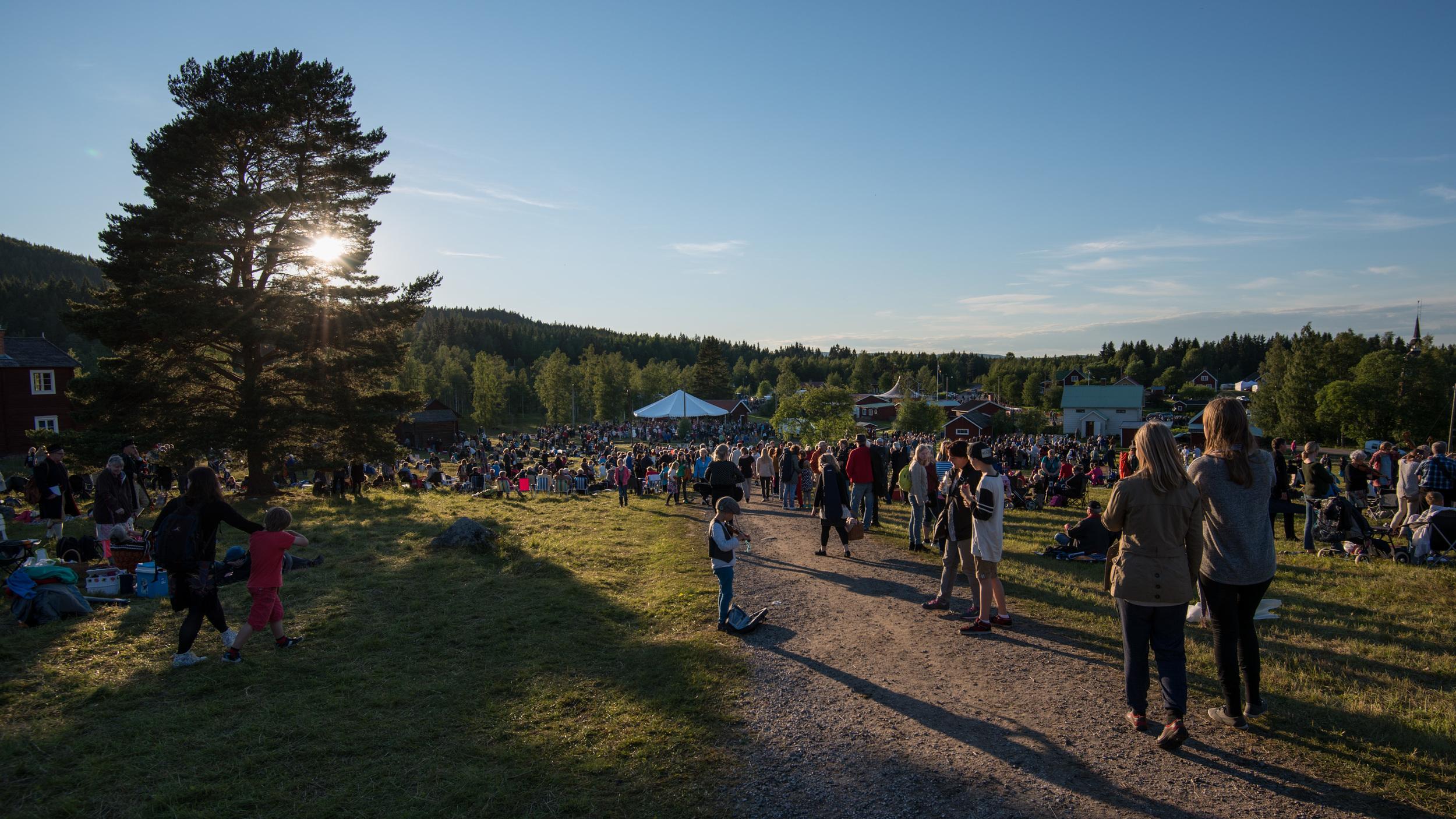 Byn i Rättviks finnmark blir folkmusiksveriges mittpunkt ett par dagar i juli. Foto: Hans Olander