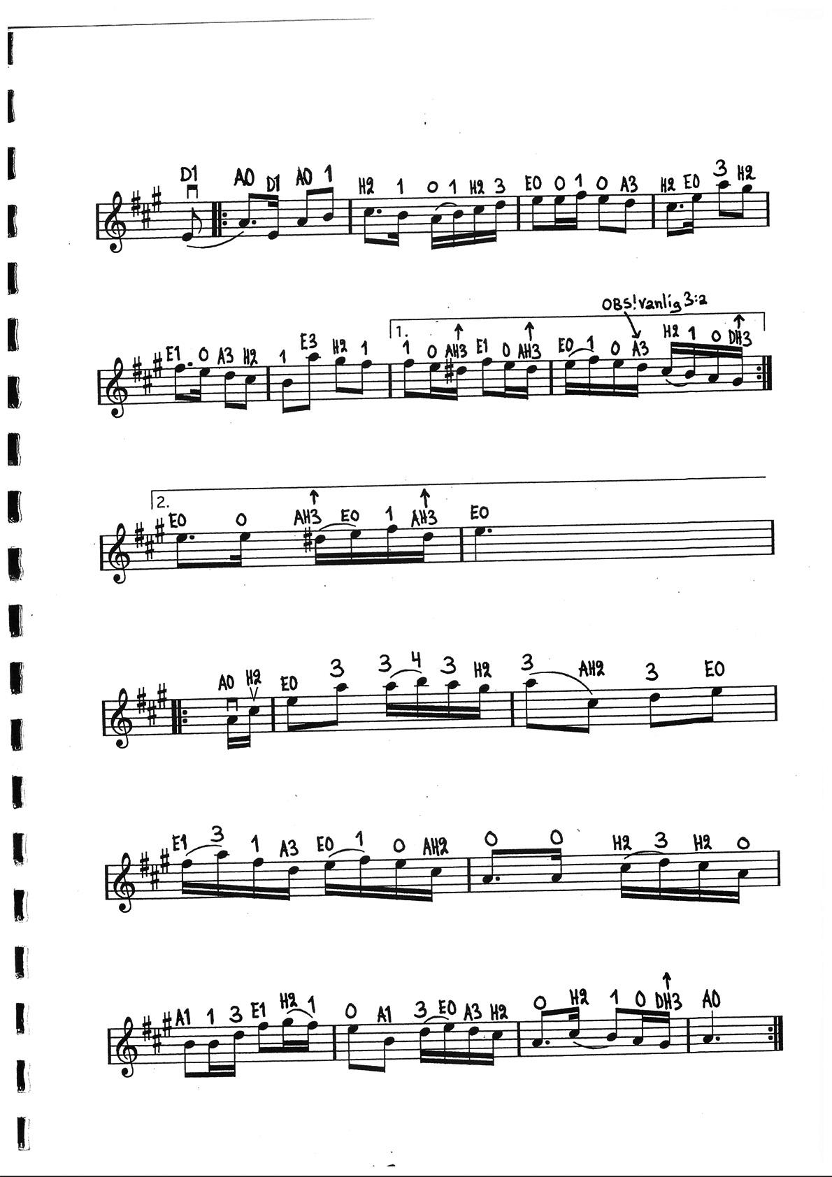 Solskenslåten - efter Anders Frisell/Trad. (sida 2)