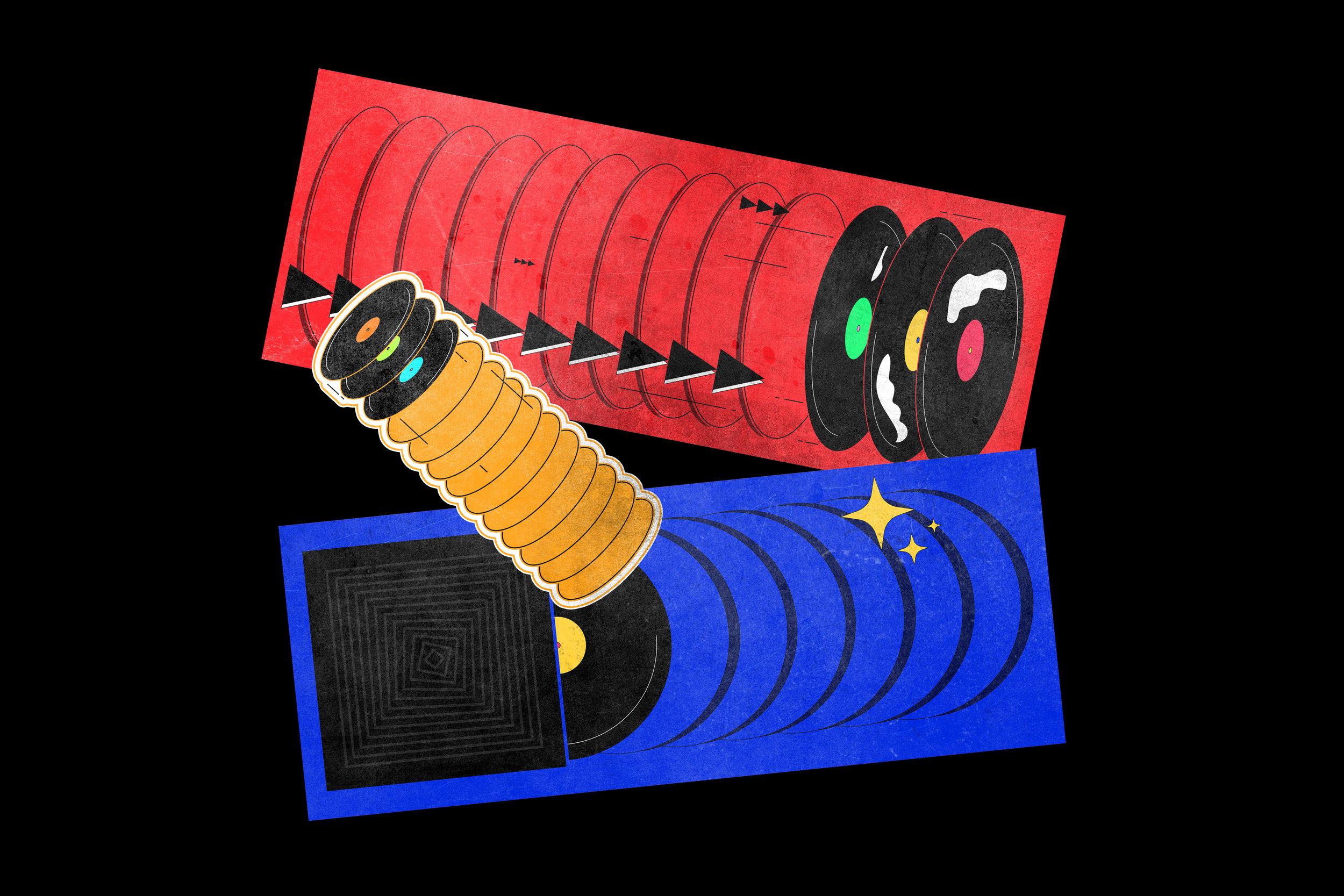 Illustration designed for The Vinyl Factory