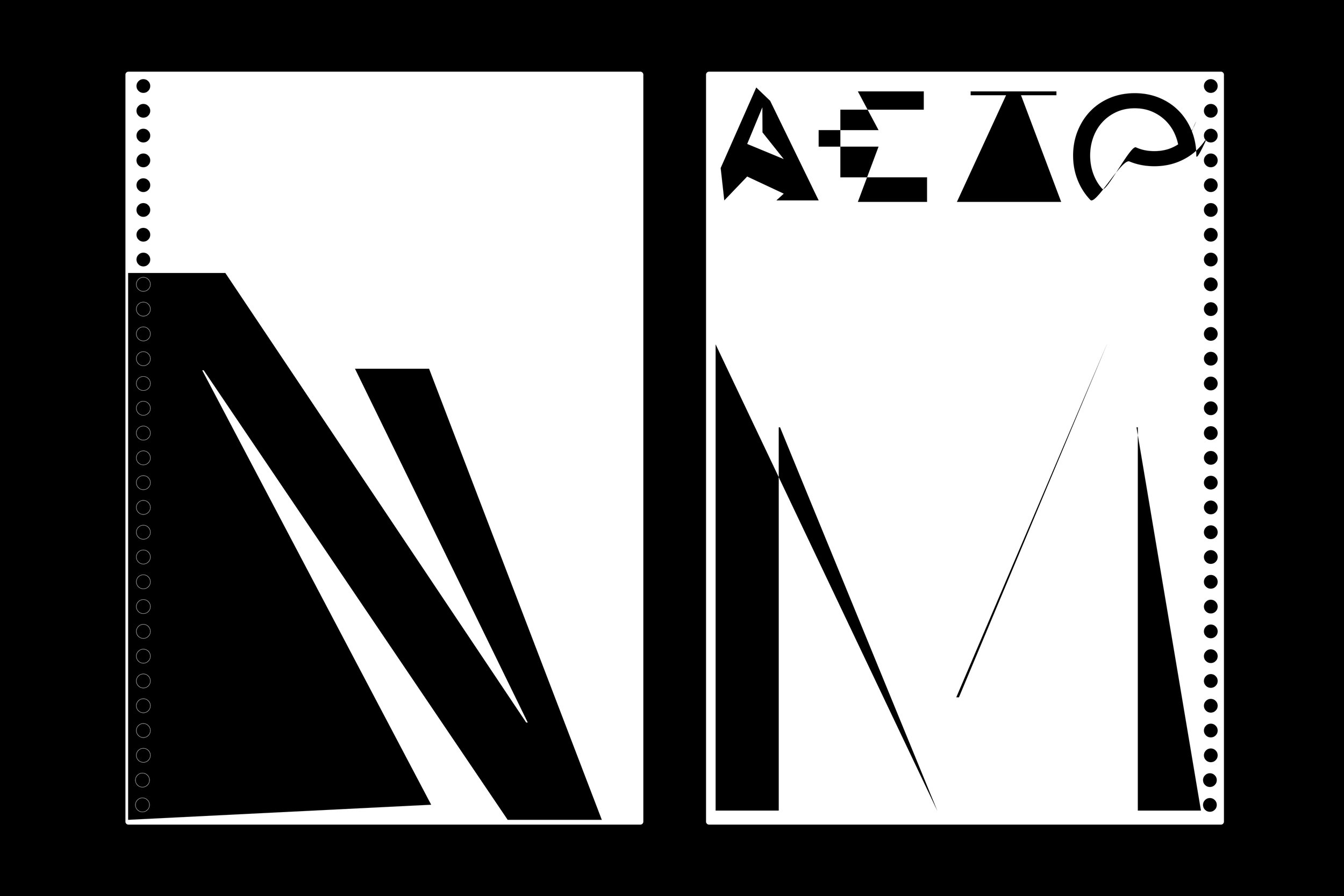 2019 - 930 letter variations - Myroslava Kuts + Florian Tripoteau | Creative Connections @ thecamp / Aix en Provence - 18.07.2019