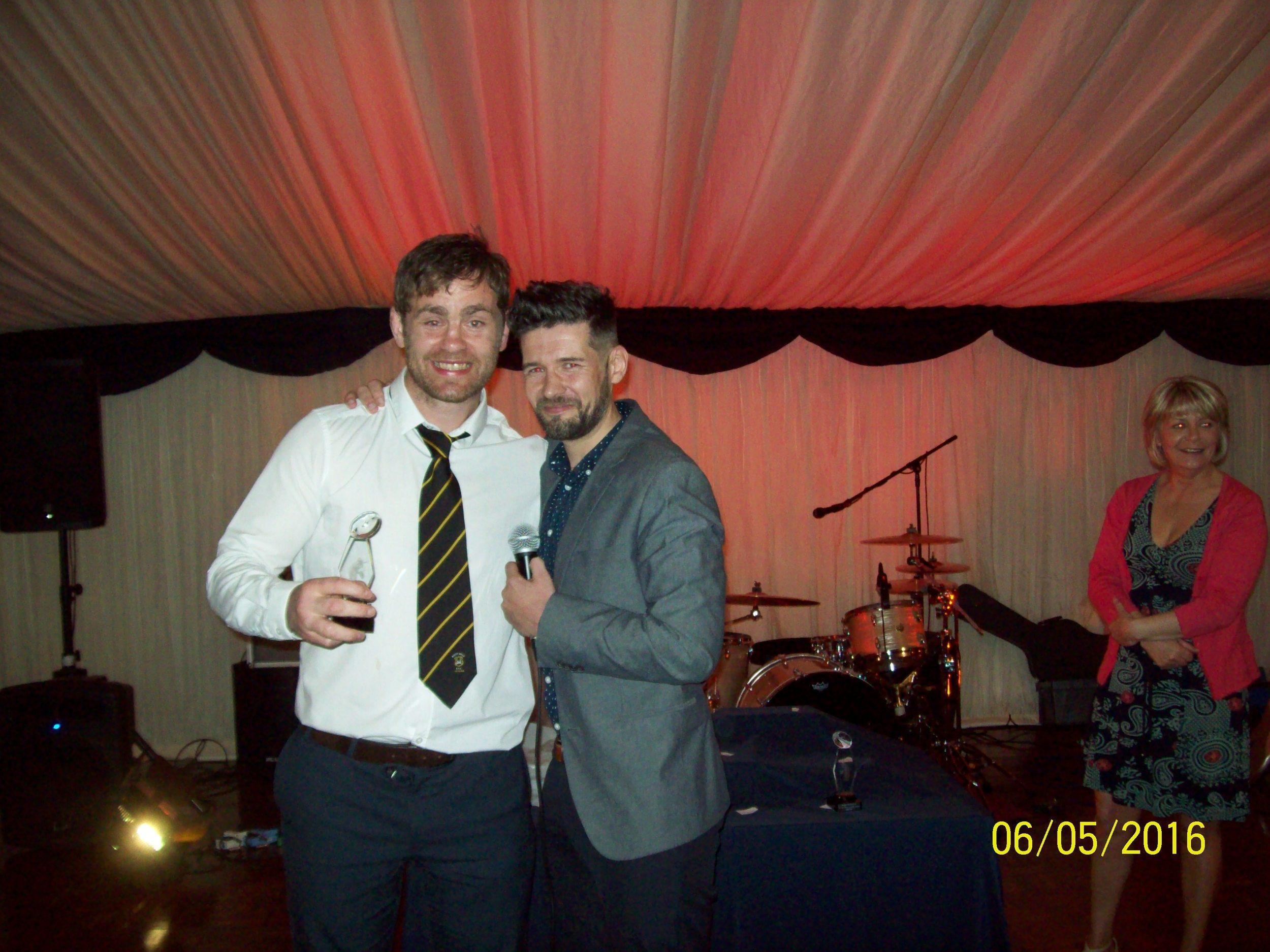 Wayne Morris, Player's Player of the Year. With Nick Howells.
