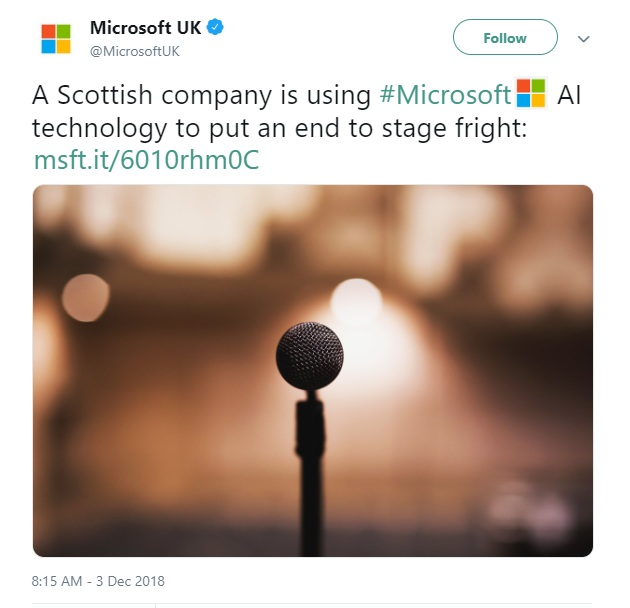 Microsoft UK Tweet