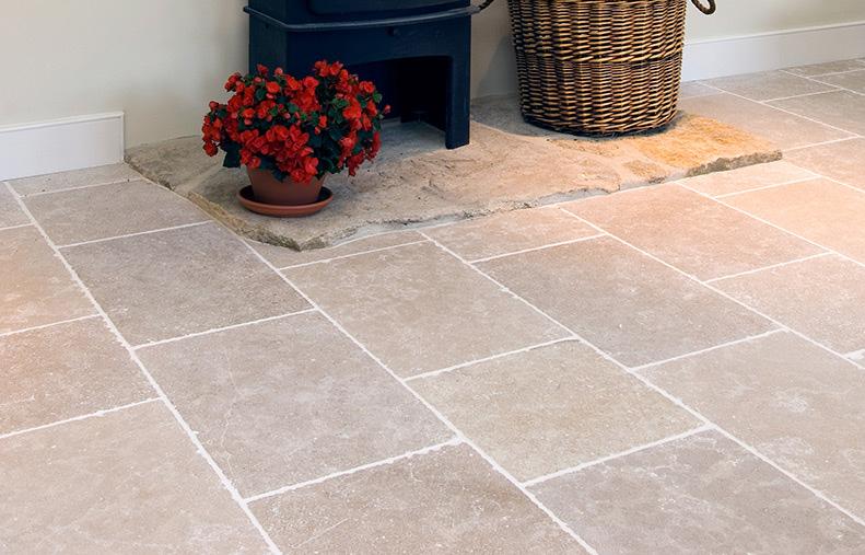 Featured stone flooring is Lambourne Limestone