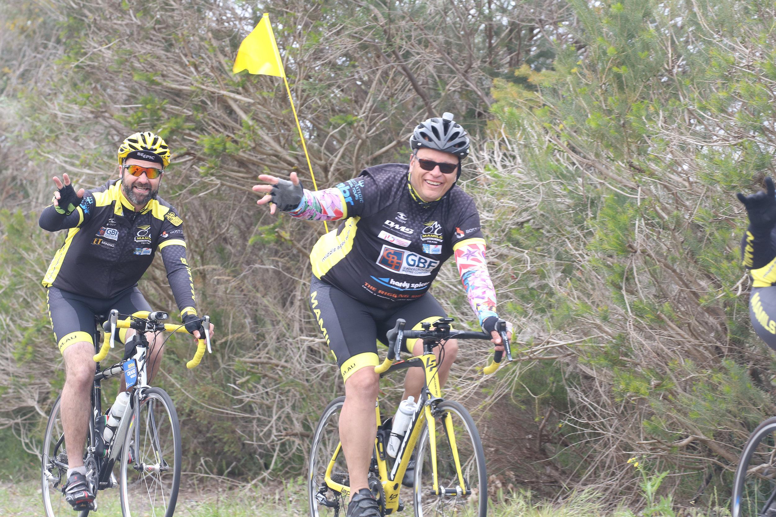 Craig Wells and Franko Roberts - Team MAMIL - Perth.JPG
