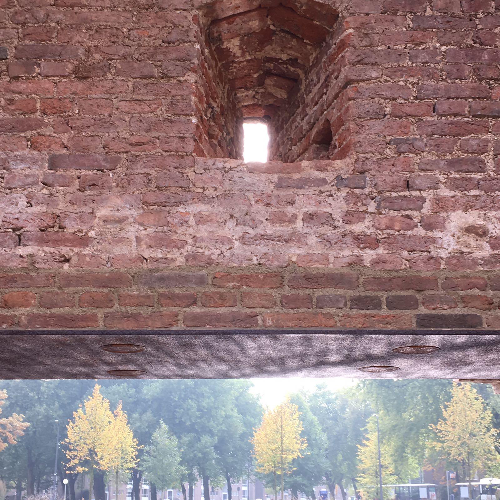 Detail city wall in Den Bosch   NL