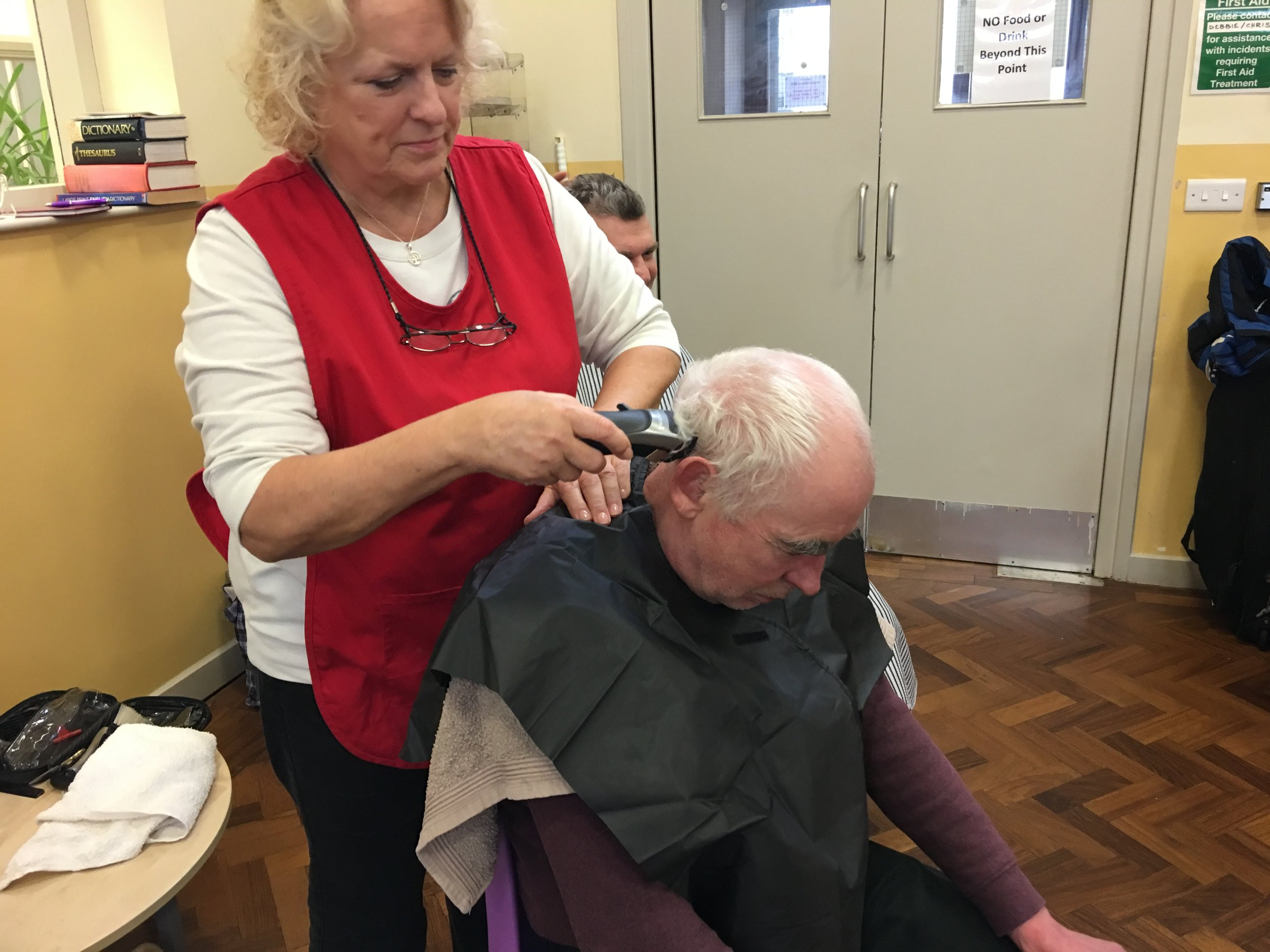 Haircuts are available at the centre on Wednesday's in the centre.