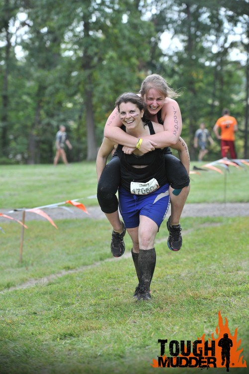 "Warrior Carry - though tiring, this one was way fun! We were playing ""spot the camera man!"""