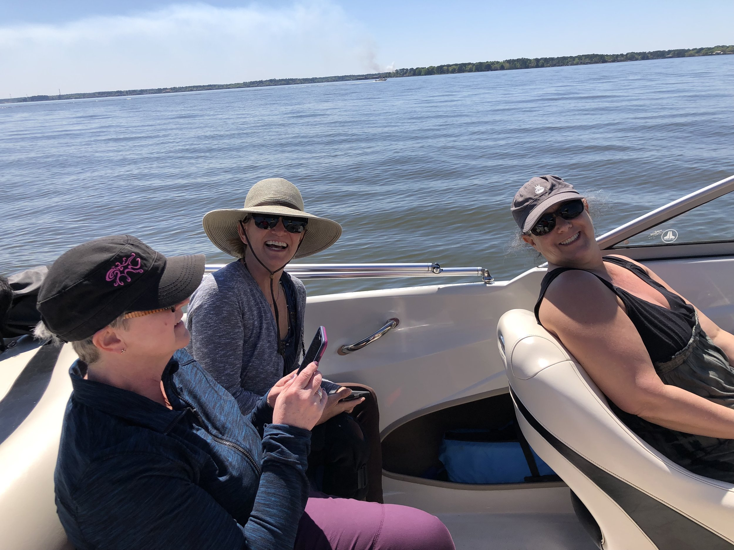 Boating on Lake Conroe helped some face fears!
