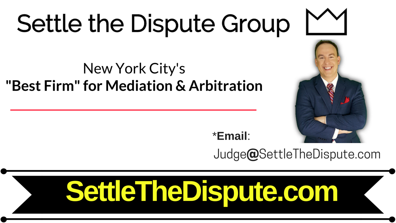 New York City's Best Law Firm for Mediation and Arbitration: SettletheDispute.com